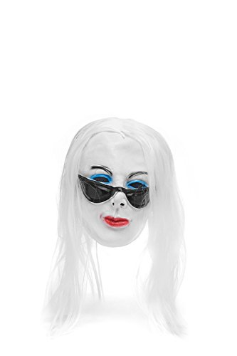 Adult Halloween Horror Vampire Dracula Face Mask Scary Party Role Play With Wig (Snow-white, red, blue, black) (Disfraces De Bruja Para Halloween)