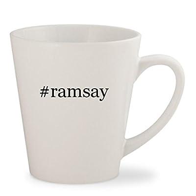 #ramsay - White Hashtag 12oz Ceramic Latte Mug Cup