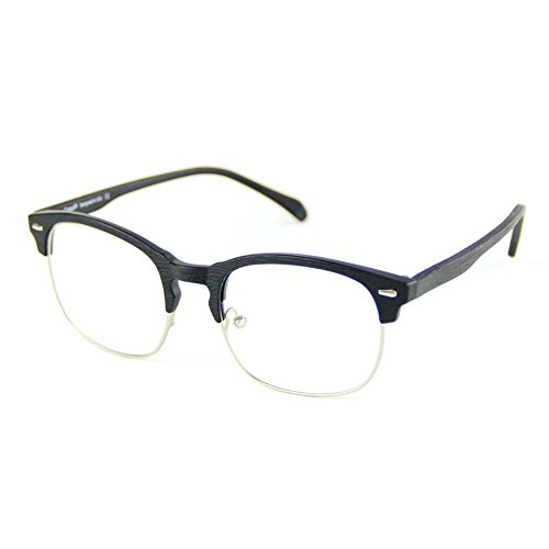 Electronics : Cyxus Blue Light Blocking TR90 Lightweight Glasses,[Clear Lens] Anti Eye Fatigue Headaches Better Sleep Eyewear (Matte Black Wood Grain Semi-Rim Frame)