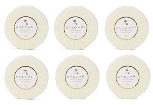 Bvlgari Au the Blanc (White Tea Soap) – 2.6oz/75 Grams Each – Set of 6