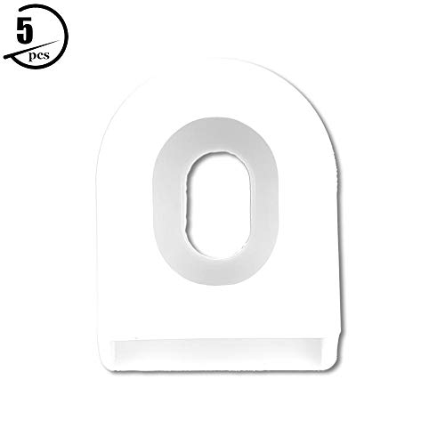 Crank Arm Boots, 5 PCS Durable Rubber Crank Boot Protectors Bicycle Crank Protector for Most Mountain Road Bikes (White)