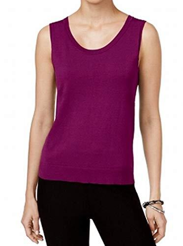 (August Silk Women's Scoop-Neck Shell Sleeveless Vest Purple XL)