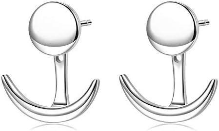 MetZakka Sterling Crescent Geometric Earrings product image