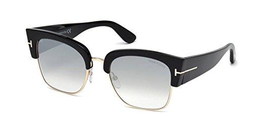 Tom Ford FT0554 Dakota-02 Sunglasses 55 01C Shiny Black Smoke - Ford Dakota