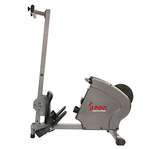 Sunny Health & Fitness SF-RW5856 Magnetic Rowing Machine Rower, 11 lb. Flywheel and LCD Monitor with Tablet Holder, Gray by Sunny Health & Fitness (Image #11)