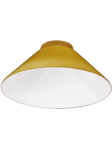 - Amber Cone Shade With 3 1/4