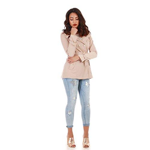 La Modeuse - Abrigo - para mujer Beige
