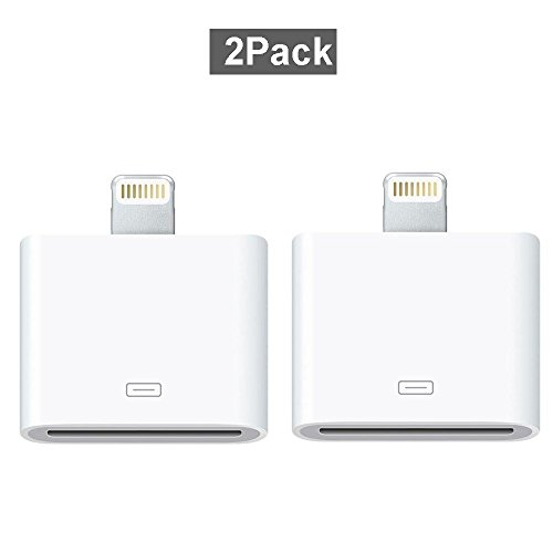 2 Pack Lightning to 30-Pin Converter, Coursin 8 Pin to 30 Pin White Charging Adapter for iPhone 7, 7 Plus, 6S, 6S Plug, 5S, 5C, iPad