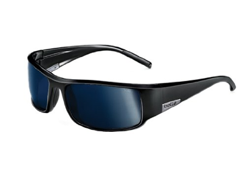 Bolle King Sunglasses, Shiny Black , Polarized TNS oleo - Bolle Sunglasses Polarized Men's