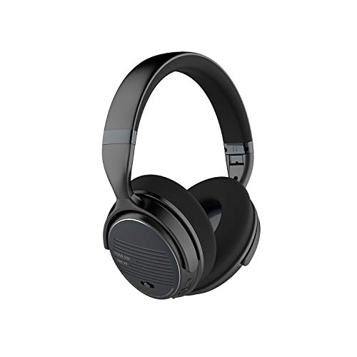 Cloud Fox Active Noise Cancelling Headphones, ANC Wireless & Wired Bluetooth 4.0 Headset, Foldable Over-Ear Headphones with Comfortable Earpads, HiFi Stereo Headset with Mic, 16 Hours Playtime (Noise Headphones Canceling 110 Foldable)