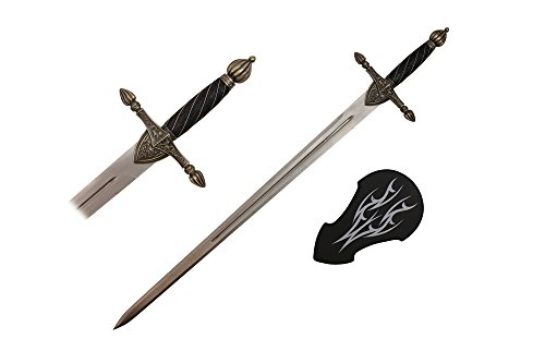 44'' Medieval Sword with Wall Plaque by Other