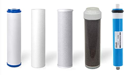 (5 Stage Replacement Filters + Membrane   Aquarium Reverse Osmosis Water Systems   50 GPD )