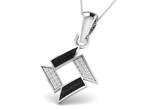 Or Blanc 18 ct Pendentifs Diamant , 0.18 Ct Diamant, GH-SI, 1.16 grammes.