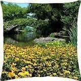 Summer bridge - Throw Pillow Cover Case (18