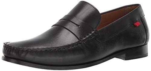 - Marc Joseph New York Mens Genuine Grainy Leather Windsor Place Penny Loafer, Black Brushed Nappa, 10.5 M US