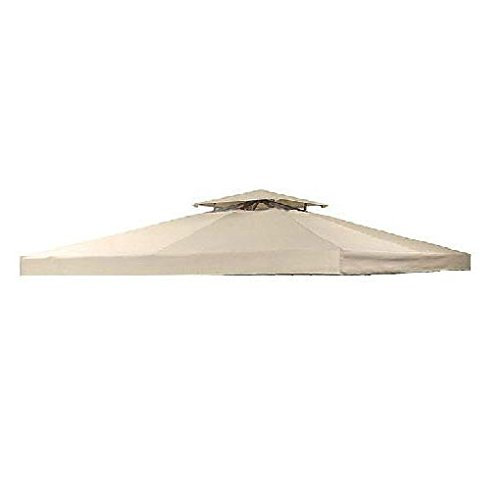 Garden Winds OPEN BOX - 10' X 10' Universal Gazebo Replacement Canopy Top Cover - RIPLOCK 500 - BEIGE EB-LCM412BUGF-RS