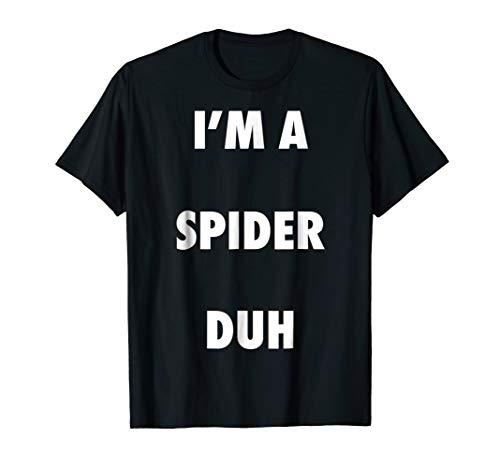 Easy Halloween Spider Costume Shirt for Men Women Kids