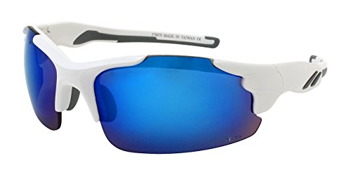 Edge I-Wear Men's Semi-Rimless Sport Safety Sunglasses w/ANSI Z87+ - Sunglasses Z87 Safety