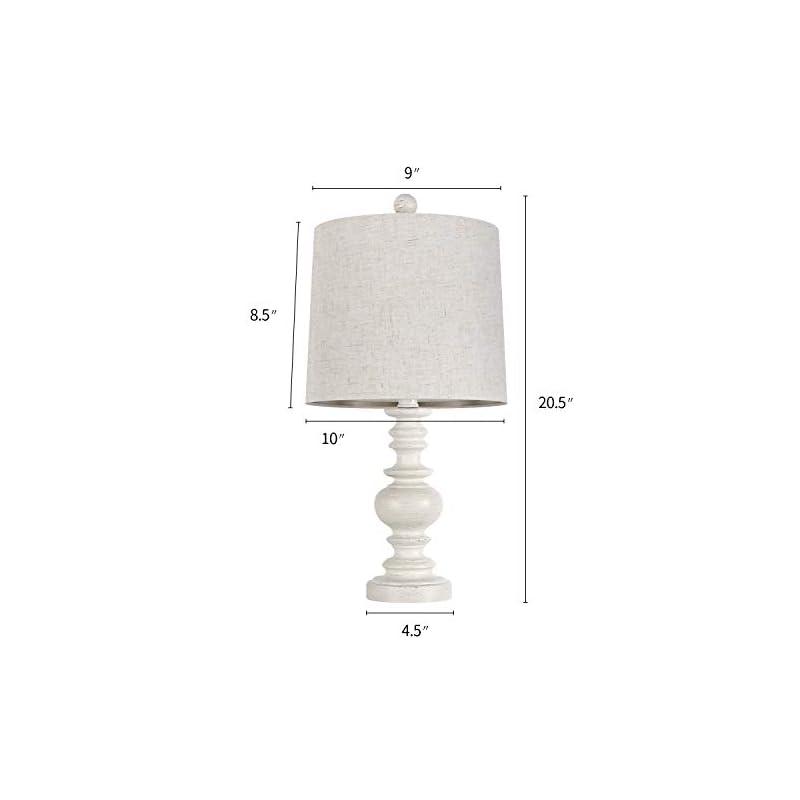 BOBOMOMO Tradition 20.5'' Rustic Table Lamp Set of 2 for Living Room Farmhouse Bedside Desk Lamps Bedroom Nightstand…