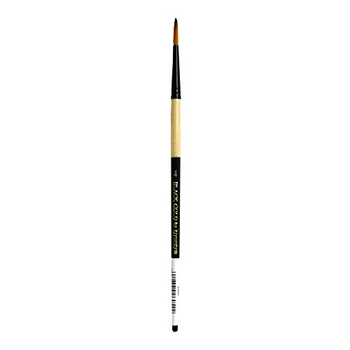 Dynasty Black Gold Series Synthetic Brushes Short Handle 4 round,Natural