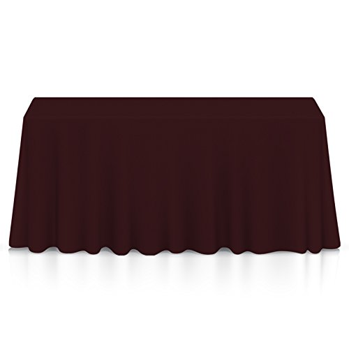 Lann's Linens - 90'' x 156'' Premium Tablecloth for Wedding/Banquet/Restaurant - Rectangular Polyester Fabric Table Cloth - Burgundy by Lann's Linens