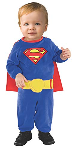 10 Month Old Boy Halloween Costume (Superman Romper With Removable Cape Superman, Superman Print, 6-12)