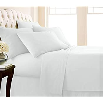 Southshore Fine Living, Inc. Vilano Springs - Premium Collection 6-Piece, 21 Inch Extra-Deep Pocket Sheet Sets, Bright White, King