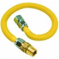 Plumb Shop Brasscraft CSSC12E-48P 3/4-Inch MIP x 3/4-Inch FIP x 48-Inch Gas Connector, (5/8'' OD, 1/2'' ID)