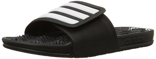 adidas Performance Men's Adissage 2.0 M Stripes Sandals,Black/White/Black,12 M US by adidas