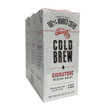 Steep 18 Cold Brew Coffee (32 oz., 3 pk.) (pack of 6)