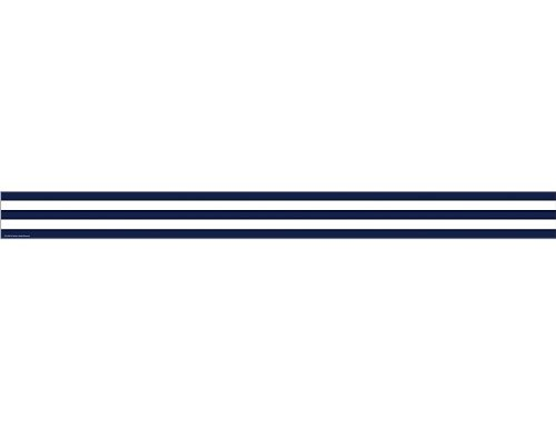 Teacher Created Resources Navy Blue and White Stripes Straight Border Trim (5289)
