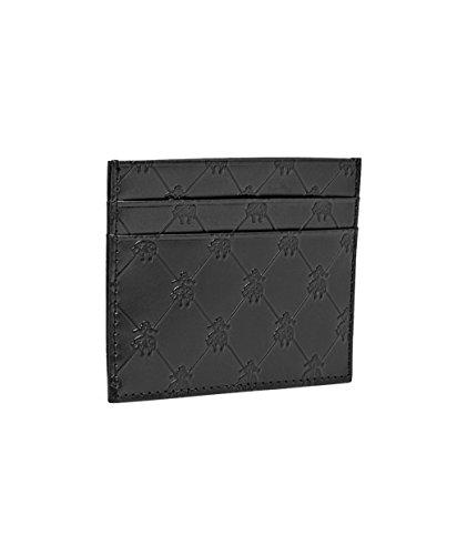 Brooks Brothers Mens Embossed Golden Fleece Genuine Leather Credit Card Wallet ()