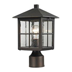 Cornerstone Lighting 8201EP/70 Shaker Heights Post Lantern, Hazelnut Bronze
