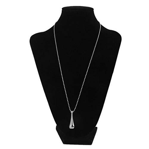 Steel Teardrop Bottle Cremation Urn Necklace Keepsake Memorial Pendant Jewelry Necklace Jewelry Crafting Key Chain Bracelet Pendants Accessories Best  Color - Silver