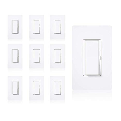 Dynamics Dimmer Switch, Single Pole or 3-Way, 600W, LED And Incandecent | 10 Pack