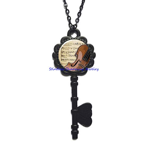 Pewter Flute - Flute and Music Pendant, Flute Pendant Flute Jewelry, Flute Key Necklace, Music Teacher Gift Flautist Gift Flute,Halloween Key Necklace,Christmas Key Necklace-JP314 (C3)