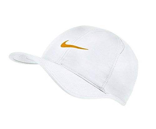 NIKE Featherlight Cap White, Wimbledon Gold