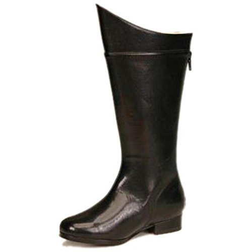 Child's Black Super Hero Costume Boots (Size: Large