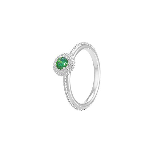 Chamilia Authentic May Soiree Ring with Green Swarovski Zirconia, Size 8-1125-0141 (Beads Pugster Green Murano)
