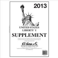 2013 United States Liberty 1 Stamp Album Supplement
