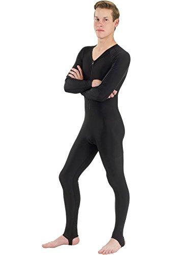 Phantom Aquatics Snorkeling Swim Lycra Skin Full Suit Wetsuit, All Black, Medium