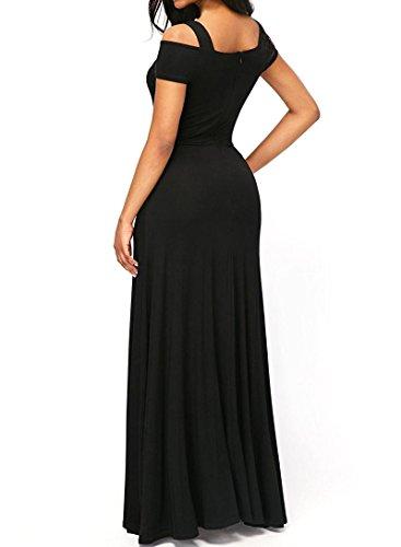 Dearlove-Womens-Sexy-V-neck-Cold-Shoulder-Short-Sleeve-Maxi-Long-Dress