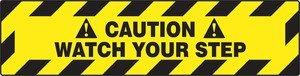 Slip Gard Floor Signs - Accuform Signs PSR266 Slip-Gard Adhesive Vinyl Step-Style Floor Sign, Legend
