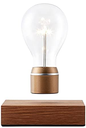 Flyte royal original authentic floating levitating led light bulb oak base gold