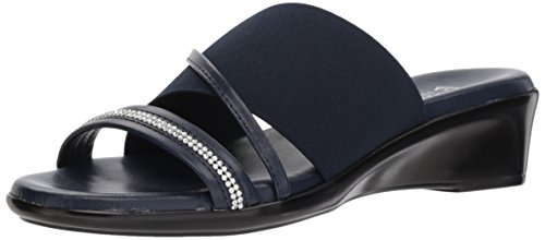 Navy Slide Sassy ITALIAN Women's Sandal Shoemakers B6xF4