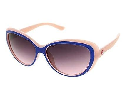 Vast UV Protected Cat Eye Unisex Sunglasses (jasper_cat_eye_7230_blue_pink|52|Grey)