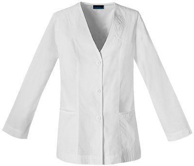 Cherokee Women's Cardigan 29''; Lab Coat XXX-Large White