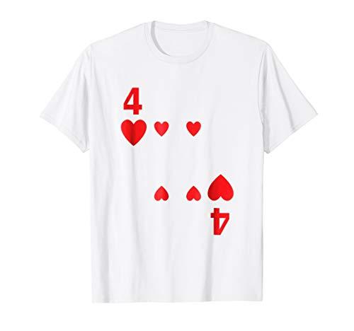 Four of Hearts Tshirt poker playing card costume tee shirt]()