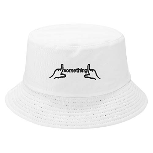 Tomppy Bucket Hats for Men Women Summer UV Protection Folding Double-Sided Wearing Leather Travel Fishing Sun Visor Hat Caps (M(56-58cm/22.05-22.83''), -