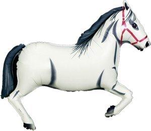 Oaktree Betallic 43 Inch Shape White Horse Packaged Foil Packaged Balloon